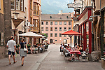 Sidewalk cafes and pastry shops in the Old Town
