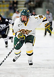 30 November 2009: University of Vermont Catamount forward Colin Vock, a Senior from Detroit, MI, in action against the Yale University Bulldogs at Gutterson Fieldhouse in Burlington, Vermont. The Catamounts shut out the Bulldogs 1-0 in a rematch of last season's first round of the NCAA post-season playoff Tournament. Mandatory Credit: Ed Wolfstein Photo