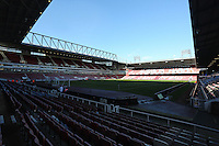 Pictured: Interior view of Boleyn Ground. 01 February 2014<br /> Re: Barclay's Premier League, West Ham United v Swansea City FC at Boleyn Ground, London.