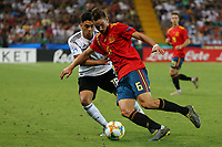 Nadiem Amiri of Germany and Fabian Ruiz of Spain  compete for the ball<br /> Udine 30-06-2019 Stadio Friuli <br /> Football UEFA Under 21 Championship Italy 2019<br /> final<br /> Spain - Germany<br /> Photo Cesare Purini / Insidefoto