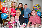 Tara McCarthy from Oakpark, Tralee Celebrating her 30th birthday with family on Saturday night at the Meadowlands Hotel. Pictured Front l-r  Abbie Conway, Tara McCarthy and Alan Conway. Back l-r  Carmel Conway, Amy Conway and Pat Conway.