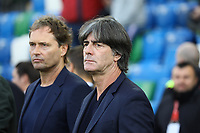 Co-Trainer Marcus Sorg (Deutschland Germany), Bundestrainer Joachim Loew (Deutschland Germany) - 09.09.2019: Nordirland vs. Deutschland, Windsor Park Belfast, EM-Qualifikation DISCLAIMER: DFB regulations prohibit any use of photographs as image sequences and/or quasi-video.