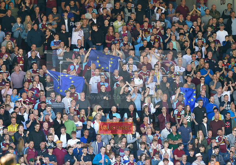 13/05/2018 Premier League Burnley v AFC Bournemouth<br /> <br /> Fans read for their European tour