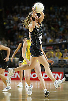 Silver Ferns Adine Wilson in action during the netball test match between the Silver Ferns v Australia played at the Sydney Superdome, Sydney Australia, 29th June 2005. The Silver Ferns won 50-43. ©Michael Bradley