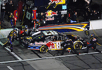 Feb 10, 2007; Daytona, FL, USA; Nascar Nextel Cup driver Brian Vickers (83) pits during the Budweiser Shootout at Daytona International Speedway. Mandatory Credit: Mark J. Rebilas.