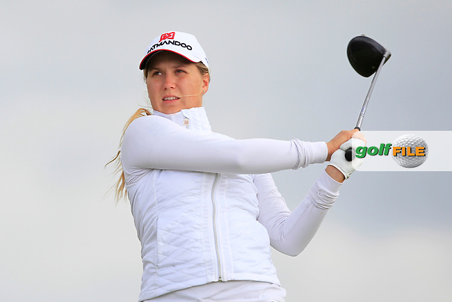 Kiira Kiihijarvi (FIN) on the 8th tee during Round 3 Matchplay of the Women's Amateur Championship at Royal County Down Golf Club in Newcastle Co. Down on Friday 14th June 2019.<br /> Picture:  Thos Caffrey / www.golffile.ie