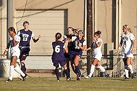 SAN ANTONIO, TX - OCTOBER 31, 2012: The Big 12 Conference Women's Soccer Championship - Game 3 featuring the West Virginia University Mountaineers vs. the Texas Christian University Horned Frogs at Blossom Soccer Stadium. (Photo by Jeff Huehn)