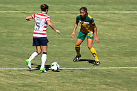 CARSON, California - Sunday September 16, 2012; The  US WNT defeated the National team of Australia 2-1 during an International friendly game at Home Depot Center stadium.