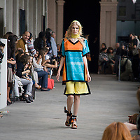 Sfilata di Missoni all'università statale di Milano<br /> <br /> Missoni fashion show at the University of Milan.