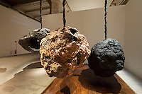 55th Art Biennale in Venice - The Encyclopedic Palace (Il Palazzo Enciclopedico).<br /> Arsenale.<br /> Phyllida Barlow (U.K.) &quot;untitled: hanginglumpcoalblack&quot;, 2012.
