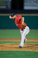 Pawtucket Red Sox pitcher Trevor Kelley (44) during an International League game against the Rochester Red Wings on June 28, 2019 at Frontier Field in Rochester, New York.  Pawtucket defeated Rochester 8-5.  (Mike Janes/Four Seam Images)
