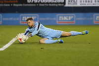 Joe Day of Newport County makes a save during the Sky Bet League 2 match between Luton Town and Newport County at Kenilworth Road, Luton, England on 16 August 2016. Photo by David Horn.