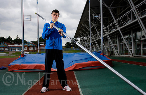 29 JUL 2008 - LOUGHBOROUGH, UK - Pole vaulter Steven Lewis - Beijing bound Loughborough students, graduates and staff. (PHOTO (C) NIGEL FARROW)