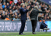 5th November 2017, Wembley Stadium, London England; EPL Premier League football, Tottenham Hotspur versus Crystal Palace; Crystal Palace Manager Roy Hodgson from the touchline gesturing to his Crystal Palace players to keep positive