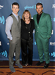 """Chris Evans his mother Lisa evans and brother Scott Evans at the """"24th Annual GLAAD Media Awards"""" held at the JW Marriott Hotel in Los Angeles, CA. April 20, 2013."""