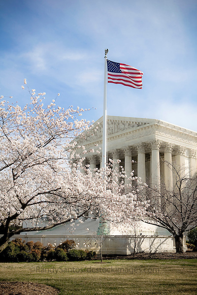 """US Supreme Court Washington DC<br /> <br /> The Supreme Court building, located on Capitol Hill in Washington DC, is the seat of the Supreme Court of the United States. It is situated in Washington, D.C one block east of the United States Capitol. Architectural detail of the west façade includes striking columns and bears the motto """"Equal Justice Under Law,"""". A national icon and popular tourist attraction in Washington DC."""