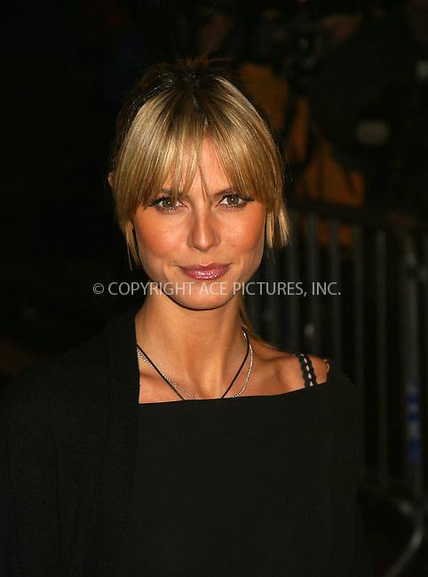 "Heidi Klum arriving at the premiere of ""Gangs of New York."" New York, December 9, 2002. Please byline: Alecsey Boldeskul/NY Photo Press.   ..*PAY-PER-USE*      ....NY Photo Press:  ..phone (646) 267-6913;   ..e-mail: info@nyphotopress.com"
