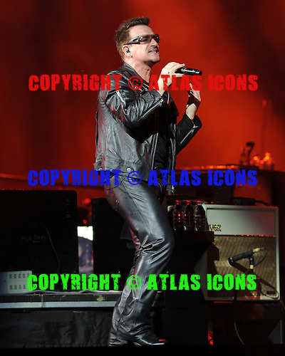 MIAMI GARDENS, FL - JUNE 29:  Bono of U2 performs at Sun Life Stadium on June 29, 2011 in Miami Gardens, Florida. Credit Larry Marano (C) 2011