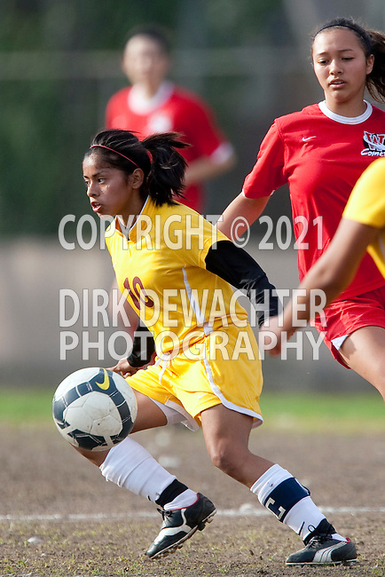 Los Angeles, CA 02/01/10 - Jennifer Martinez (Fairfax #10) in action during the Westchester vs Fairfax Girls Varsity soccer game at Fairfax High School.