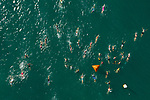 KAILUA-KONA, HI - OCTOBER 11:  Triathletes swim the course in Kailua Bay leading up to the 2018 IRONMAN World Championships in Kailua-Kona, Hawaii on October 11, 2018. (Photo by Donald Miralle for IRONMAN)