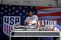 Harrison, NJ - Friday Sept. 01, 2017: DJ prior to a 2017 FIFA World Cup Qualifier between the United States (USA) and Costa Rica (CRC) at Red Bull Arena.