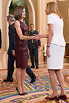 Queen Letizia of Spain during Royal Audience with a representation of the organizers of the X edition of the international awards &quot;YO DONA&quot; at Zarzuela Palace in Madrid, October 30, 2015.<br /> (ALTERPHOTOS/BorjaB.Hojas)
