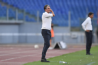 Diego Lopez, Brescia coach,<br /> during the Serie A football match between SS Lazio  and Brescia Calcio at stadio Olimpico in Roma (Italy), July 29th, 2020. Play resumes behind closed doors following the outbreak of the coronavirus disease. <br /> Photo Antonietta Baldassarre / Insidefoto
