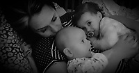 COPY BY TOM BEDFORD<br /> Pictured: Pearl Black (R) with mum Gemma (L) and baby brother (C)<br /> Re: The funeral of a toddler who died after a parked Range Rover's brakes failed and it hit a garden wall which fell on top of her will be held today at Merthyr Tydfil.<br /> One year old Pearl Melody Black and her eight-month-old brother were taken to hospital after the incident in south Wales.<br /> Pearl's family, father Paul who is The Voice contestant and mum Gemma have said she was &quot;as bright as the stars&quot;.