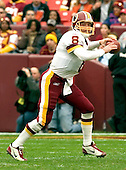 Landover, Maryland - November 27, 2005 --  Washington Redskins quarterback Mark Brunell (8) searches for a receiver in game action against the San Diego Chargers at FedEx Field in Landover, Maryland on November 27, 2005. The Redskins lost the game in overtime 23 - 17..Credit: Ron Sachs / CNP