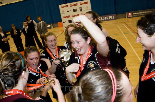 11 MAR 2009 - SHEFFIELD,GBR - Oonagh McCullough celebrates with the Loughborough University team after their victory over the  University of Bath in the Championship Final at the 2009 BUCS Championships '09. (PHOTO (C) NIGEL FARROW)