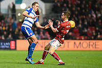 David Edwards of Reading is challenged by Joe Bryan of Bristol City during the Sky Bet Championship match between Bristol City and Reading at Ashton Gate, Bristol, England on 26 December 2017. Photo by Paul Paxford.