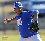 Photo of the Spartanburg Methodist College Pioneers in a junior college intrasquad scrimmage on January 19, 2015, at Mooneyham Field in Spartanburg, South Carolina. (Tom Priddy/Four Seam Images)