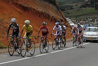 COLOMBIA. 09-08-2014. Un grupo de ciclistas escapados durante la etapa 4, Nobsa – Duitama – Paipa – Tunja – Chía – Cota – 198.7 Km, de la Vuelta a Colombia 2014 en bicicleta que se cumple entre el 6 y el 17 de agosto de 2014. / Agroup of cyclists scaped during the stage 4, Nobsa – Duitama – Paipa – Tunja – Chía – Cota – 198.7 Km, of the Tour of Colombia 2014 in bike holds between 6 and 17 of August 2014. Photo:  VizzorImage/ José Miguel Palencia / Str