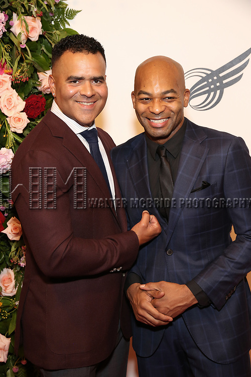 Christopher Jackson and Brandon Victor Dixon attends The American Theatre Wing's 2019 Gala at Cipriani 42nd Street on September 16, 2019 in New York City.