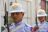 Bangkok, Thailand.  Guard at the Royal Grand Palace.