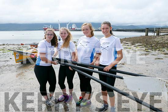 enjoying the Fenit Regatta on Sunday were Templenoe Rowing club isabelle Van der Winter, Amy Harrington, Fiadh Lucey, Eimear Crowley