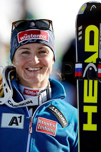 30.11.2013. Beaver Creek, Colorado, USA. Womens Super G downhill skiing world cup. Elisabeth Goergl (AUT).