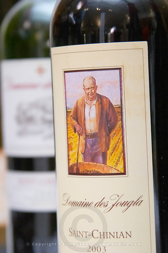 Domaine des Jougla St Chinian. Languedoc. France. Europe. Bottle.
