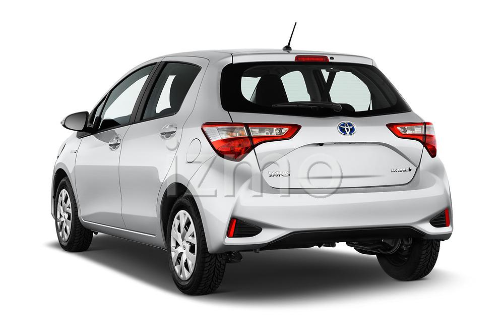 Car pictures of rear three quarter view of 2017 Toyota Yaris Comfort 5 Door Hatchback angular rear