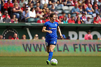 Portland, Oregon - Sunday May 29, 2016: Seattle Reign FC defender Kendall Fletcher (13). The Portland Thorns play the Seattle Reign during a regular season NWSL match at Providence Park.