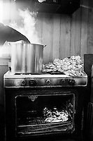 BROWNSVILLE, TN - MARCH 24: HELEN'S BBQ. Oven and Stove, Helen's BBQ.(Photo by Landon Nordeman)