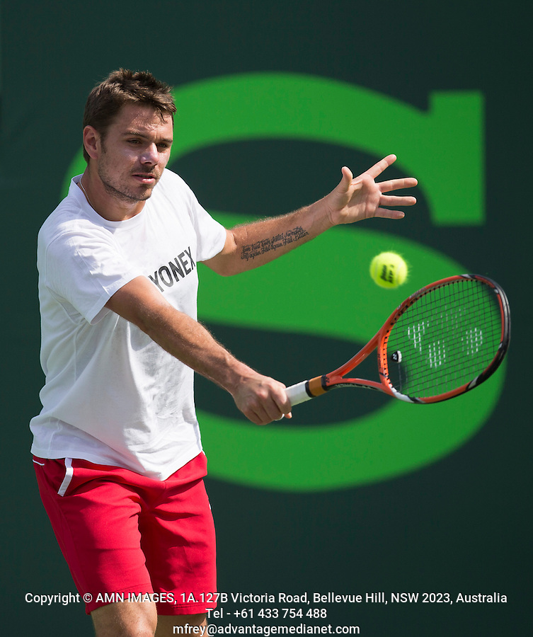 STANISLAS WAWRINKA (SUI)<br /> Tennis - Sony Open - ATP-WTA -  Miami -  2014  - USA  -  17 March 2014. <br /> &copy; AMN IMAGES