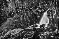 Waterfall in boreal forest<br />