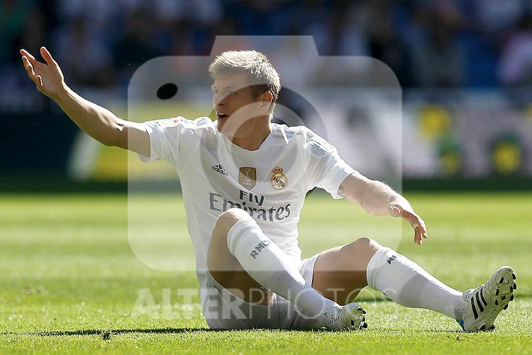 Real Madrid's Toni Kroos during La Liga match. September 19,2015. (ALTERPHOTOS/Acero)