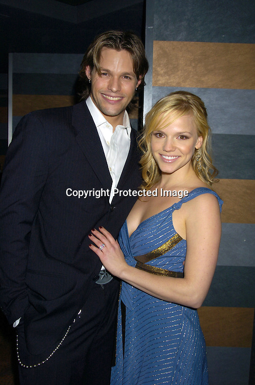 Alexa Havins and Justin Bruening ..at the Rainbow Room at the celebration for All My Childrens's 35th Anniversary after a show at Town Hall benefitting Broadway Cares Equity Fights Aids on February 7, 2005. ..Photo by Robin Platzer, Twin Images