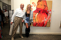 SANTA MONICA - JUN 25: Basil Collier, Ashley Hart at the David Bromley LA Women Art Exhibition opening reception at the Andrew Weiss Gallery on June 25, 2016 in Santa Monica, California