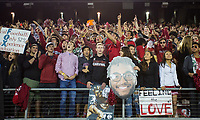 STANFORD, CA - November 18, 2017: Fans at Stanford Stadium. The Stanford Cardinal defeated Cal 17-14 to win its eighth straight Big Game.