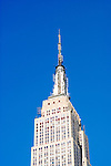 New York City, New York: Empire State Building, architecture  .Photo #: ny300-15002  .Photo copyright Lee Foster, www.fostertravel.com, lee@fostertravel.com, 510-549-2202.
