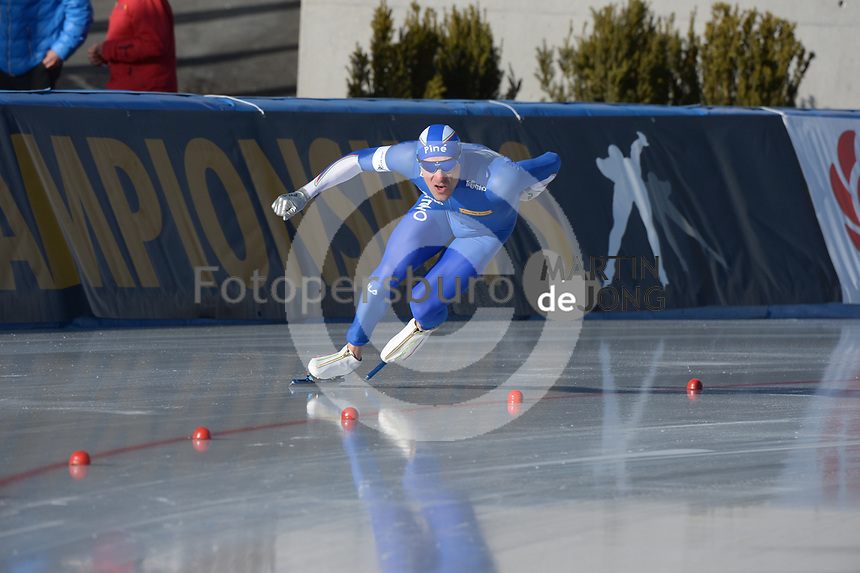 SPEED SKATING: COLLALBO: Arena Ritten, 11-01-2019, ISU European Speed Skating Championships, Mirko Giacomo Nenzi (ITA), ©photo Martin de Jong