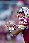 Florida State quarterback Jameis Winston throws a pass in an NCAA football game against Florida in Tallahassee, November 29, 2014.  The Florida State Seminoles defeated the Florida Gators 24-19.